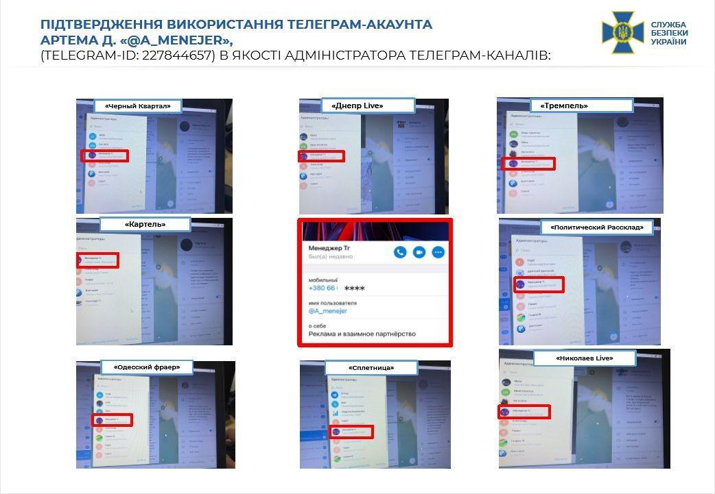 Telegram-каналами керували спецслужби РФ