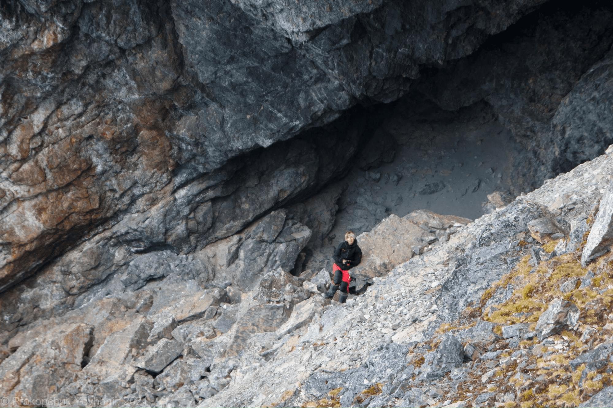 Anna Soina in a cave