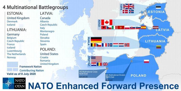 Присутність НАТО в Східній Європі