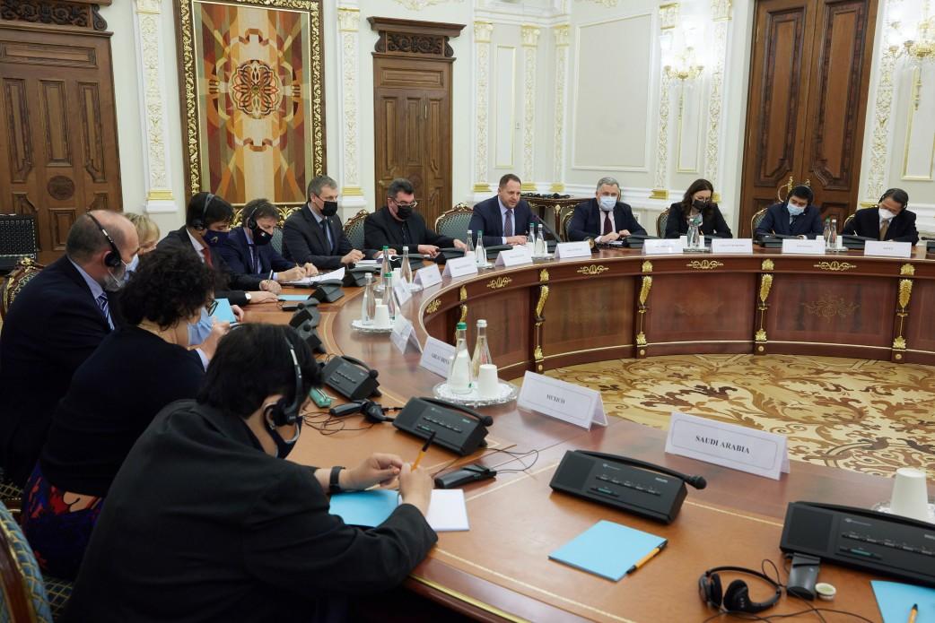 Єрмак провів зустріч із послами країн G20: про що домовились