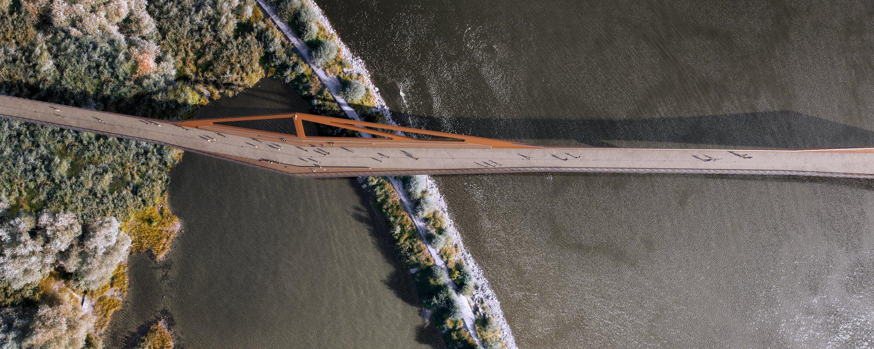 У Варшаві будують один із найдовших у світі велопішохідних мостів: фото