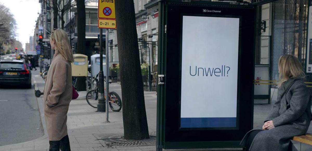 билборд, реагирующий на признаки простуды