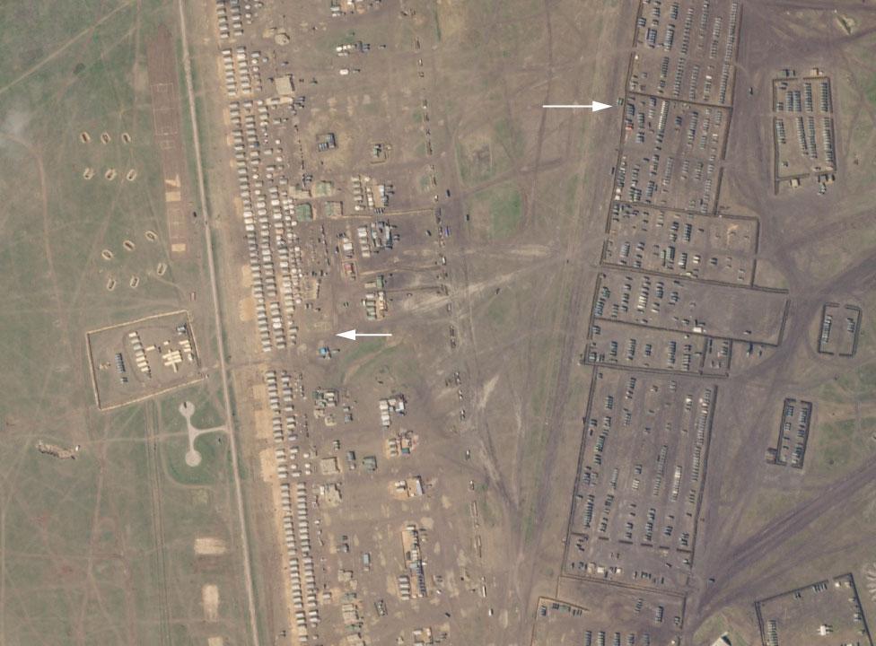 Російський табір у Криму зі супутника