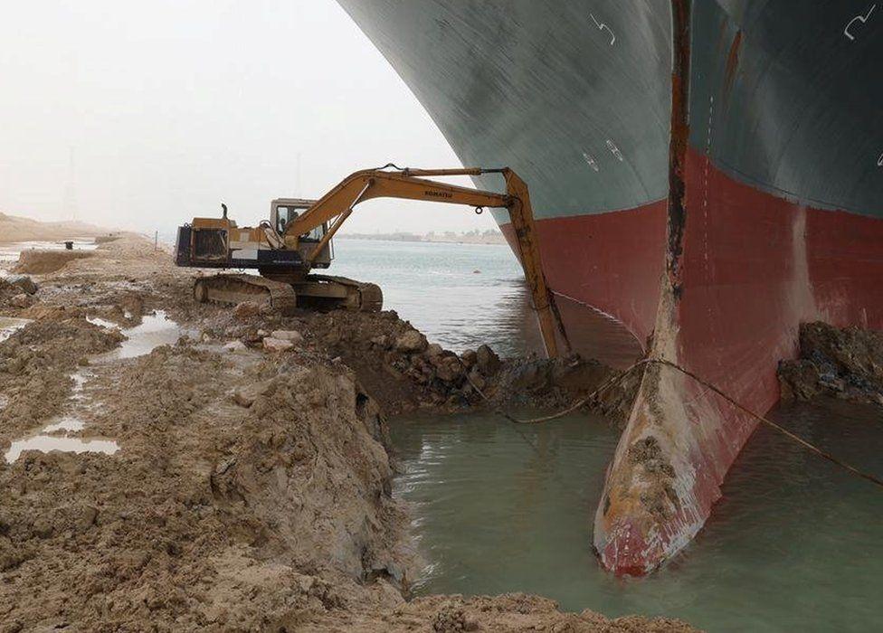 Відкопування корабля Ever Given