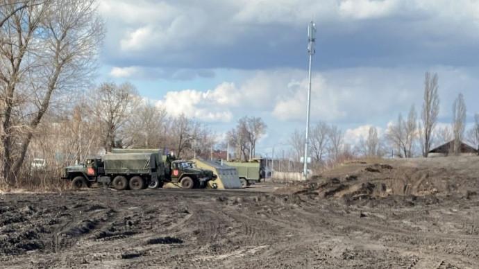 табір російських військ біля українського кордону