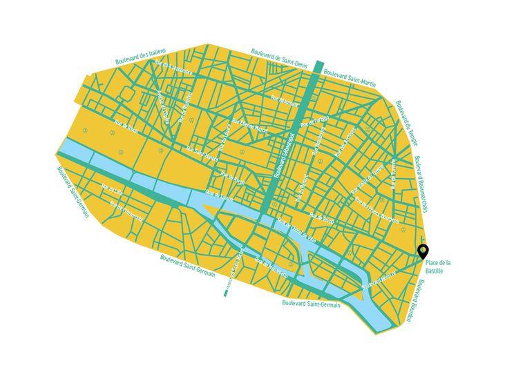 Карта центральних вулиць, де хочуть обмежити рух транспорту