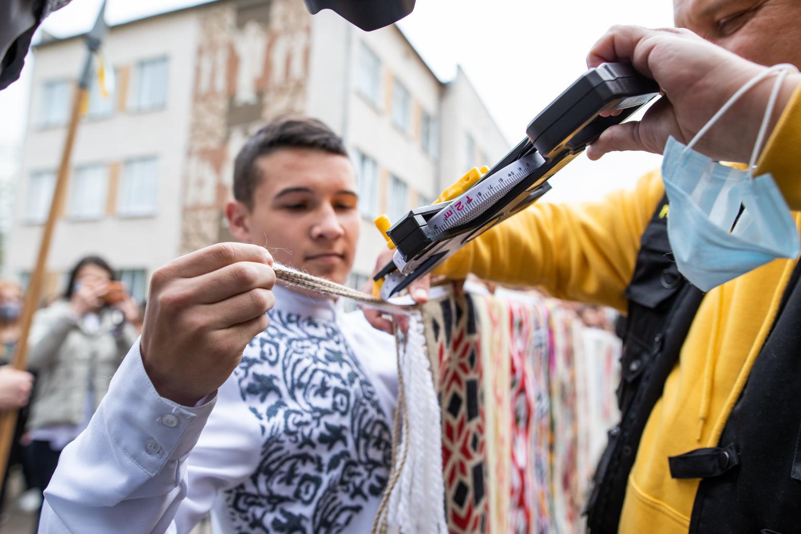 На Івано-Франківщині виготовили рекордний рушник