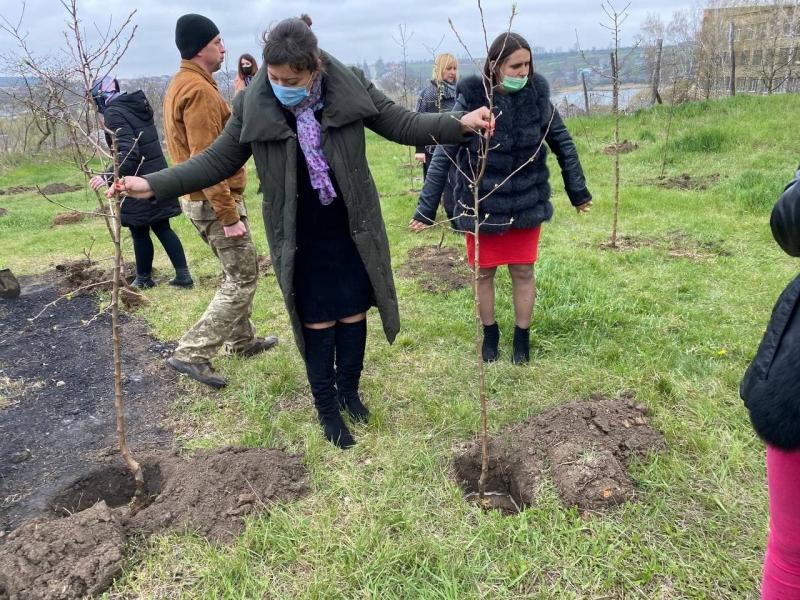 На Вінниччині висадили яблуневий сад у пам'ять про загиблих захисників України