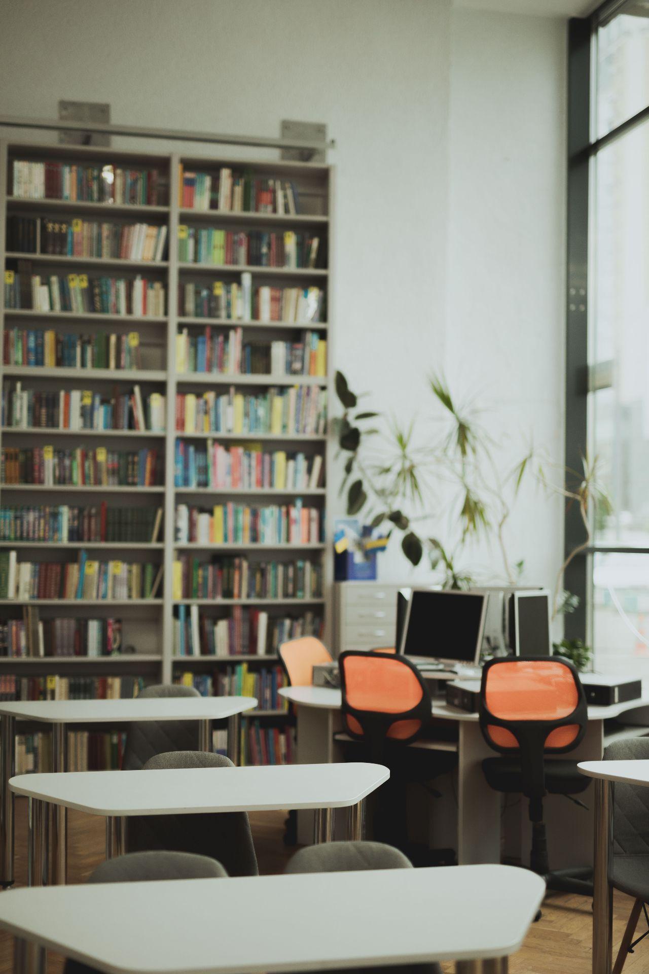 На даху бібліотеки зона відпочинку