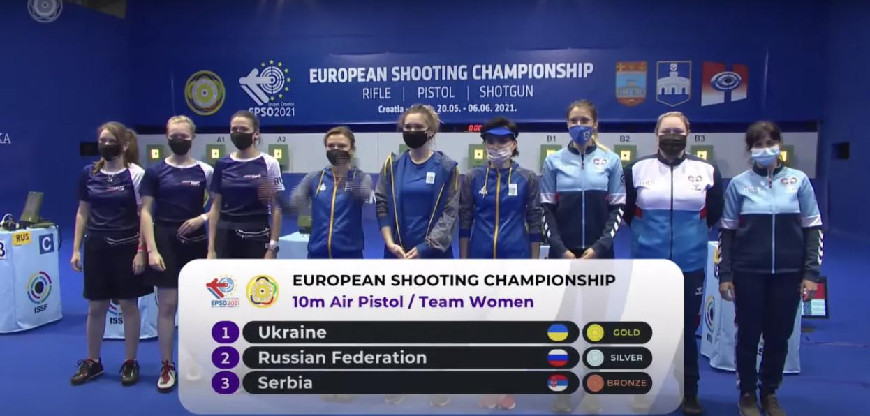 Україна виграла чемпіонат Європи зі стрільби, розбивши у фіналі Росію