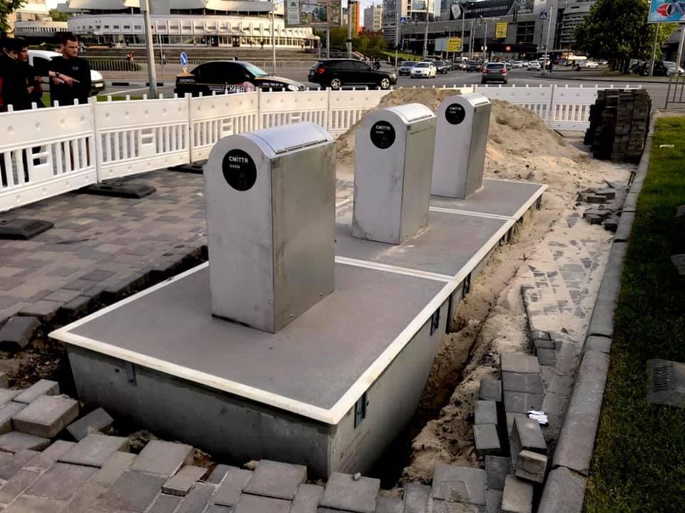 У Дніпрі встановили нові підземні контейнери для збору сміття