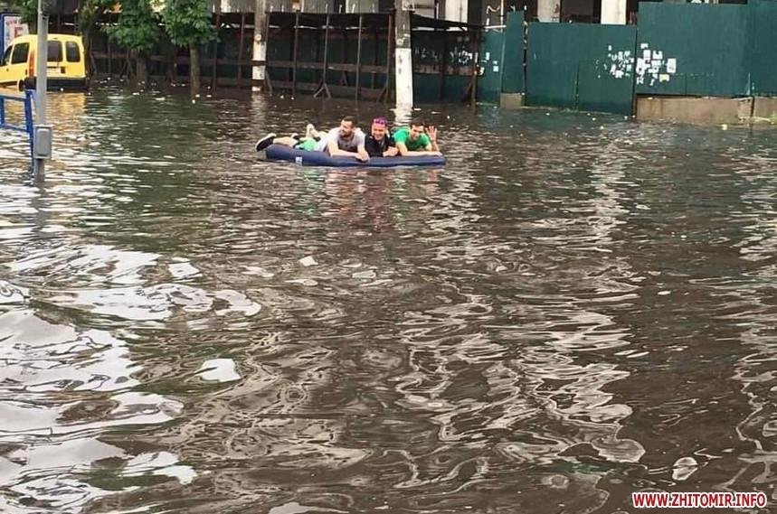 У Житомирі пройшла потужна злива1