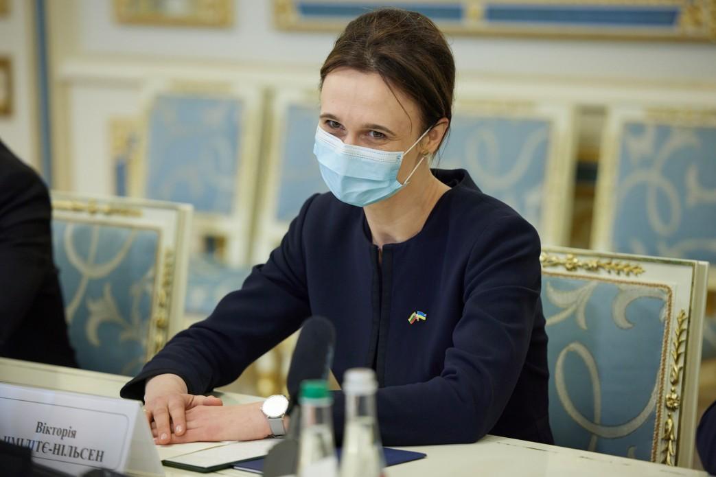 Зеленський зустріч зі Спікером Вікторією Чмілітє-Нільсен