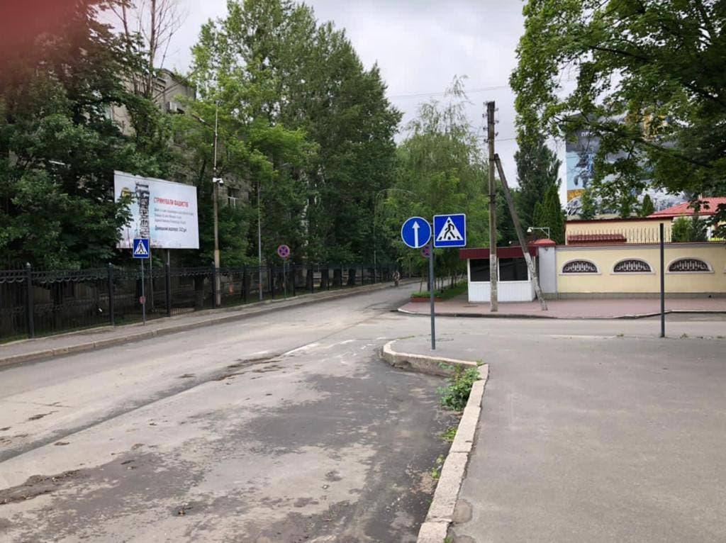 Плакат ДАП під консульством Росії