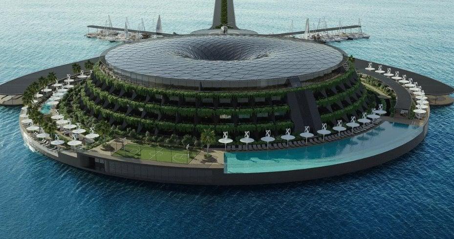 У Катарі побудують плавучий екоготель