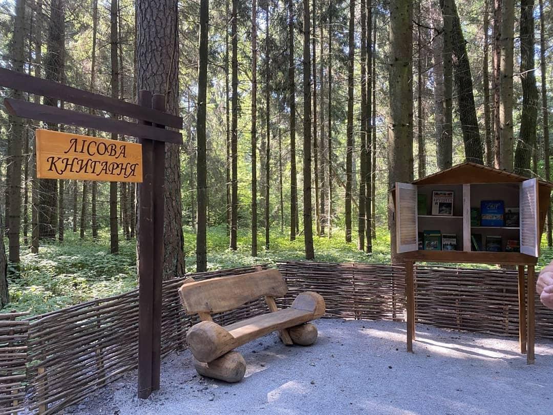 У лісі поблизу Житомира відкрили рекреаційну лісову стежку