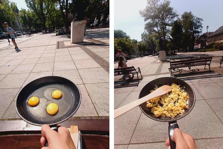 У Польщі приготували яєшню на площі