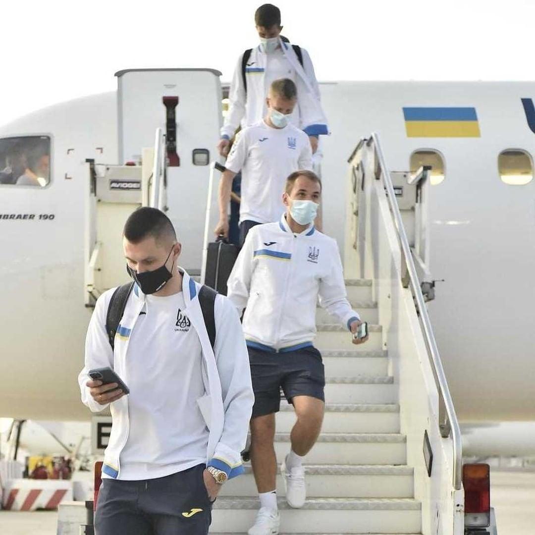 Збірна України прилетіла до Риму