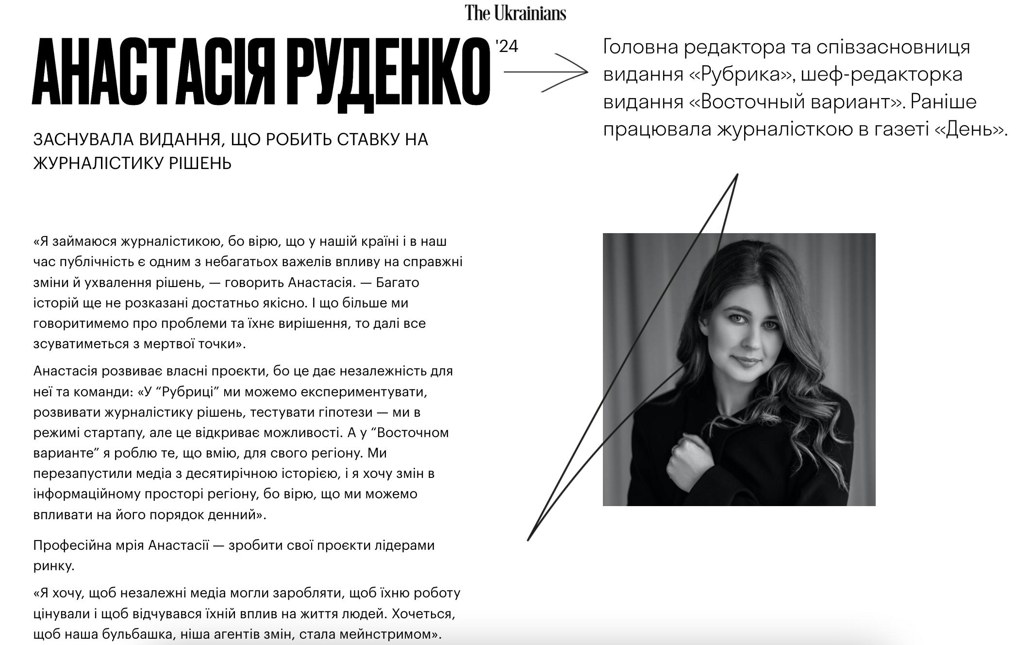 Анастасія Руденко