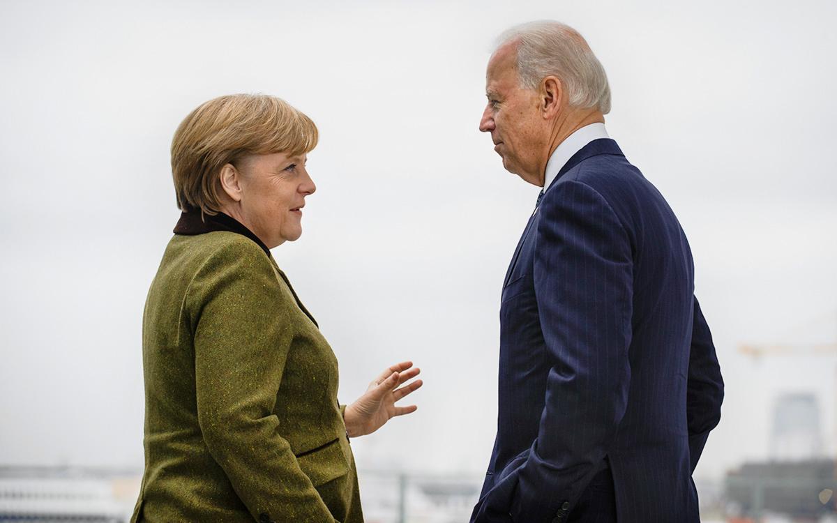 Байден Меркель