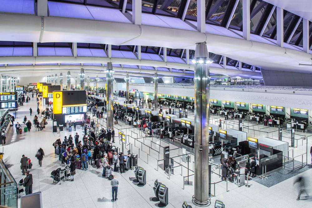 аеропорт Хітроу в Лондоні, Великобританія