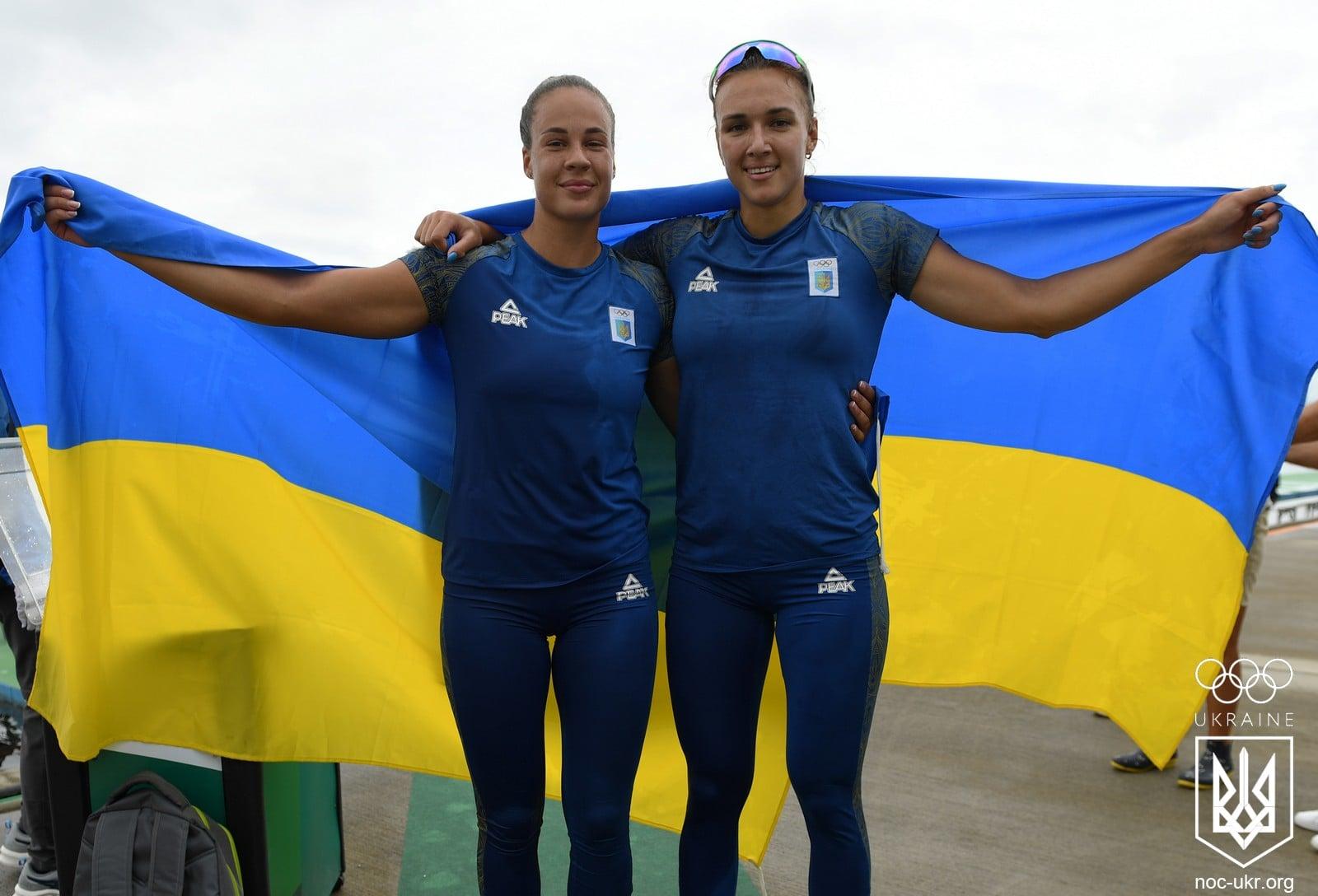 Українські веслувальниці Людмила Лузан та Анастасія Четверикова