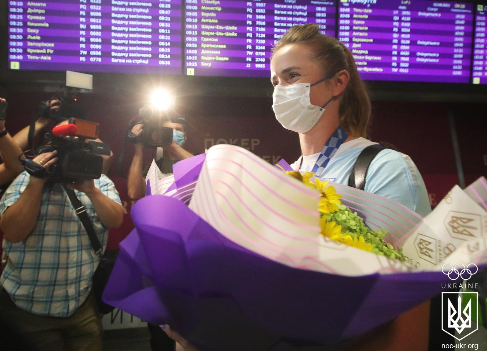 як Світоліну зустрічали в аеропорту Бориспіль
