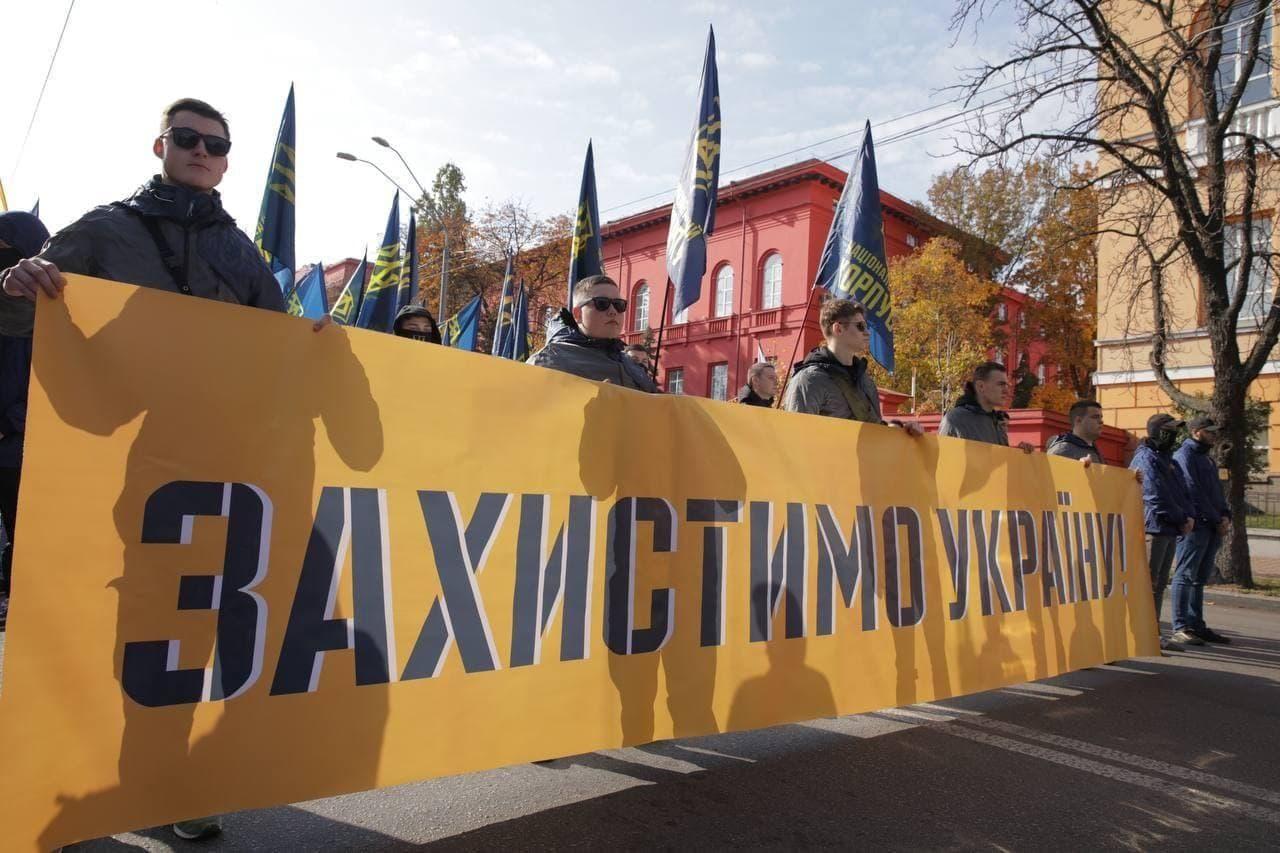 У Києві пройшов марш до Дня захисників і захисниць України