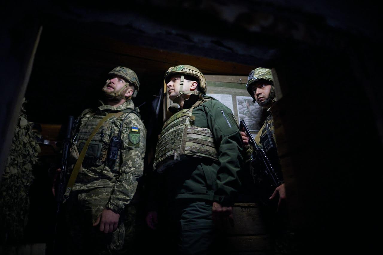 зеленський відвідав передові позиції ООС1